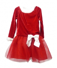 Lilybird Santa Suite Dress Girls [Red]